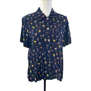 David Dart petite button-up shirt